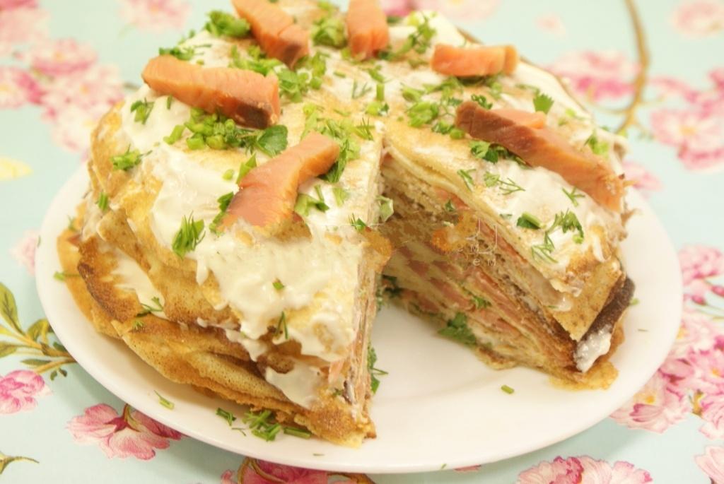 Блинный тортик - рецепт с пошаговым фото