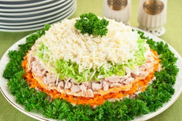 салат весенний день, рецепт с фото