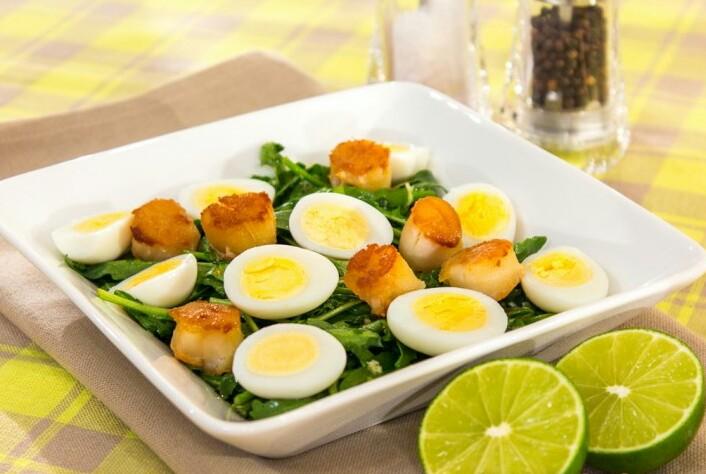 салат с морскими гребешками и рукколой рецепт пошаговый