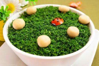 Салат Грибная поляна рецепт с фотр