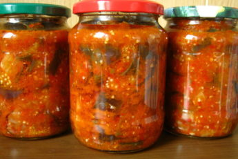 Салат с баклажанами (заготовки на зиму)