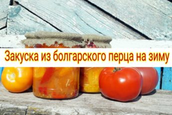 Закуска из болгарского перца на зиму