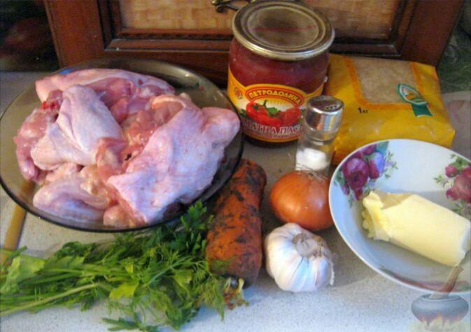Все, что понадобится для приготовления супа харчо.