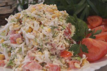 Салат с Пекинской капустой и помидорами. Быстро, просто, легко, вкусно и Полезно!