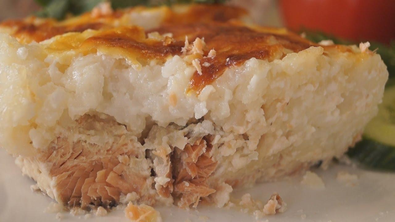 Рыбная запеканка с нежнейшим рисом. Вкуснейший ужин за 40 минут