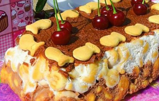 Торт из печенья «Рыбки»