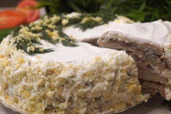Закусочный торт 'Добрый Муж'. Вкусно, красиво и прикольно!