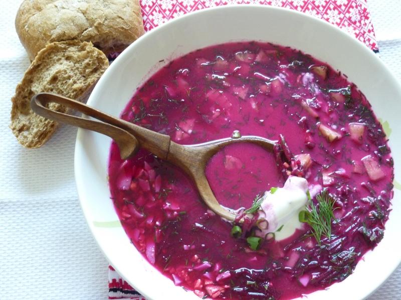 Рецепт летнего холодного супа с крабовым мясом