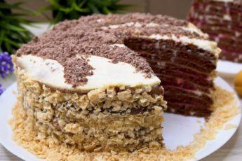Торт На сковороде! Никакой Духовки и раскатки коржей!