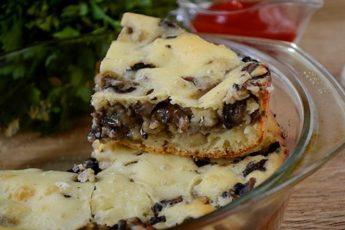 Пирог заливной с грибами на кефире – шикарная закусочная выпечка за час! Пошаговый фото-рецепт ароматного заливного пирога с грибами