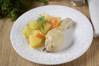 Как потушить картошку с курицей в мультиварке: отличный ужин за полчаса! Пошаговый фото-рецепт курицы тушёной с картофелем в мультиварке