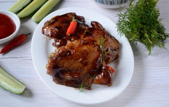 Курица жареная в соевом соусе на сковороде