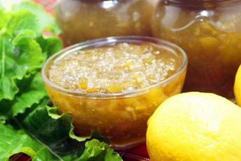 Варенье из ревеня с лимоном
