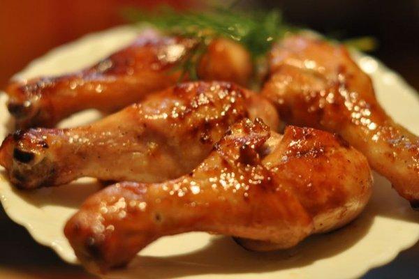 Куриные ножки в горчично-медовом маринаде в духовке