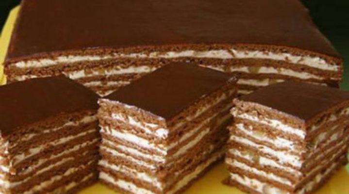 шоколадно-медовый торт с заварным кремом