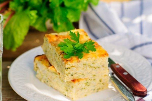 Кабачковый омлет с сыром в духовке