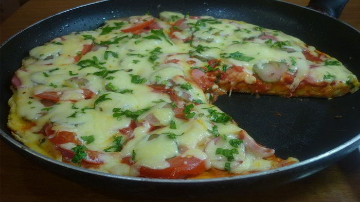 Пицца на сковороде за 5 минут! Быстрый рецепт пиццы