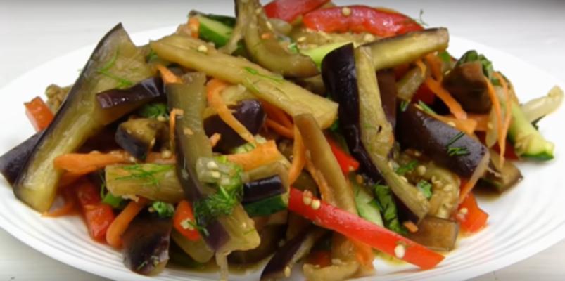 Салат по-корейски из баклажанов