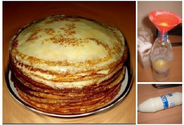 Теперь готовим только так: блины к завтраку, не перепачкав гору посуды!