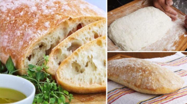 итальянский хлеб «Чиабатта» в духовке