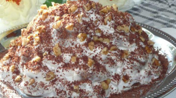 Очень простой тортик без выпечки