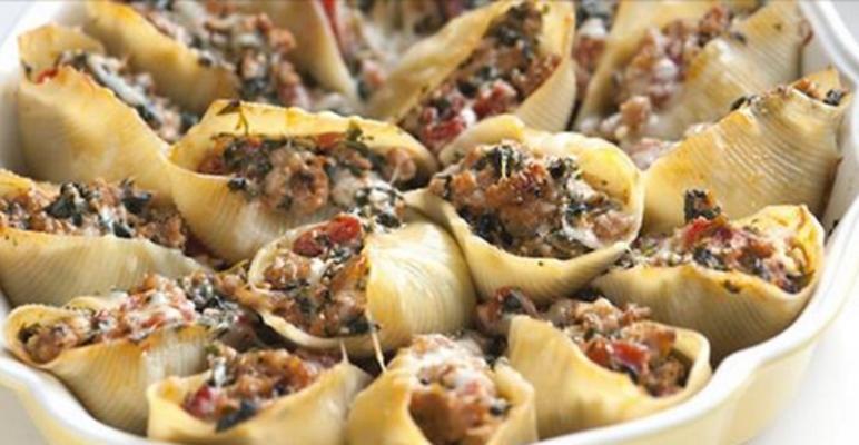 Вкуснейшие фаршированные макароны