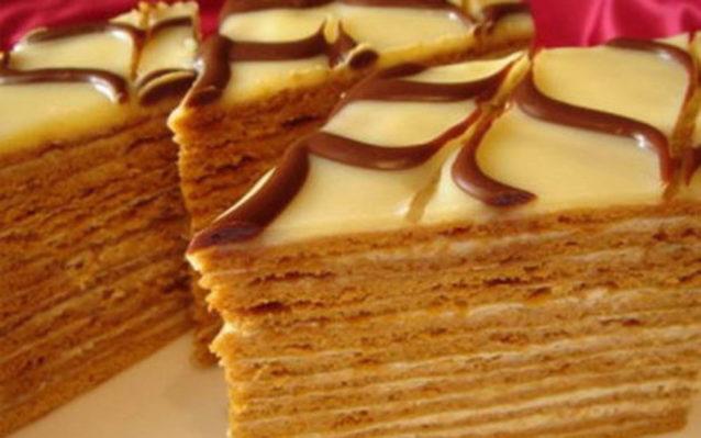 торт «Медовик» без масла