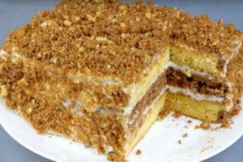 Торт со сгущенкой быстрого приготовления