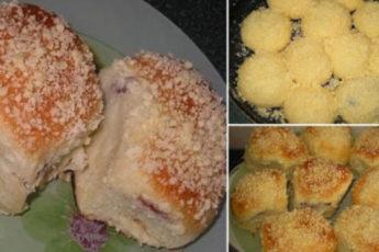 булочки с вкусной начинкой