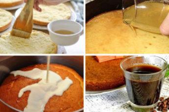 пропитки для ароматного бисквита