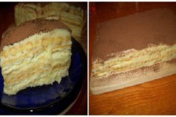 Быстрый и вкусный торт без выпечки