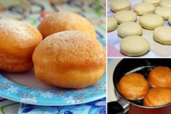 вкусные пончики с начинкой