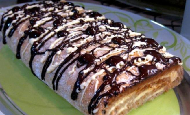 Творожный пирог-рулет