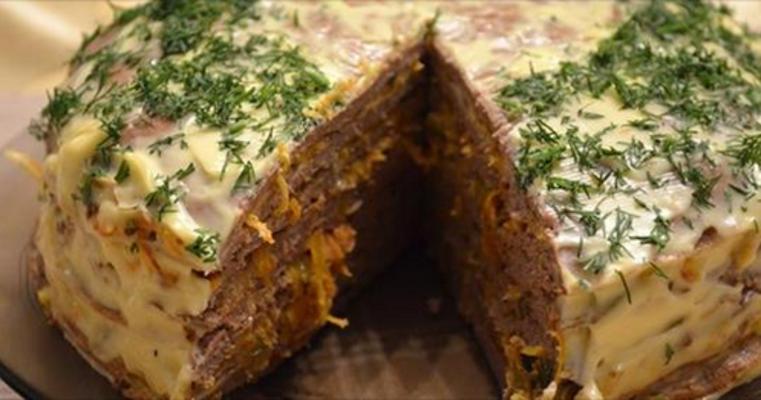 Мясной торт «Мечта гурмана»
