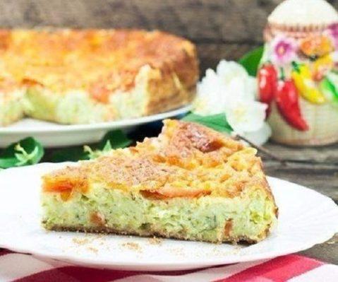 Кабачковый пирог к ужину