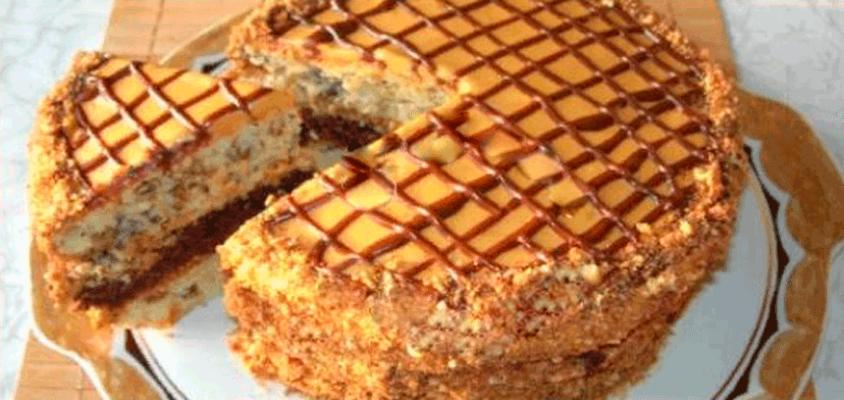 Домашний торт «Витязь», вкусный и простой в приготовлении