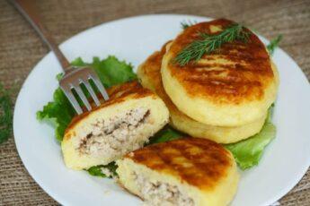 Картофельные зразы с печеночной начинкой. Нежные и ароматные