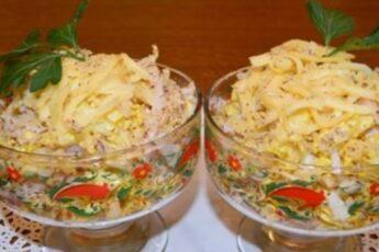 Необычный и легкий салат «Загадка Софии»: без майонеза