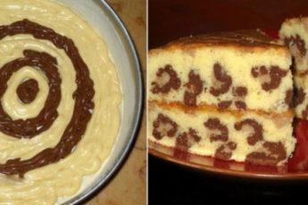 Вкусный и красивый кекс «Леопард». Вся семья в полном восторге!