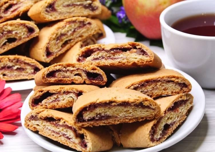 Печенье Флудинги (Песочное печенье с вареньем и орехами). Идеальный рецепт выпечки на каждый день, простые ингредиенты легко готовится и очень вкусно
