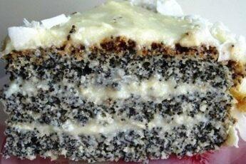 Изумительный пирог «Блаженство». Для любителей выпечки с маком!