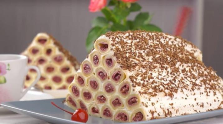 торт «Монастырская изба» из блинов