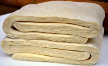 Быстрое слоёное тесто за 15 минут