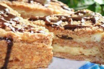 Бесподобный пирог с творогом и черносливом