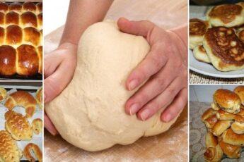 Дрожжевое тесто для лентяев