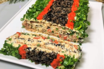 Закусочный рыбный торт