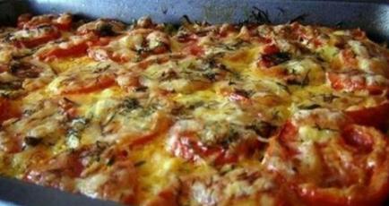 Кабачки с фаршем и помидорами, запеченные в духовке
