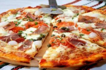 домашняя пицца с беконом