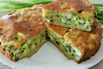 яичный пирог с луком