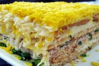 торт-салат закусочный